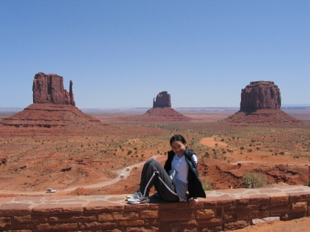 Susan at Monument Valley